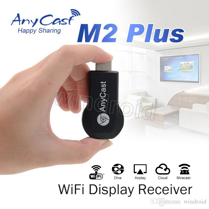 ANYCAST M2 PLUS Airplay Wireless Wifi Display TV Dongle Receiver DLNA Easy  Sharing Mini TV Stick HD 1080P for HDTV Android IOS 10 3 WINDOWS