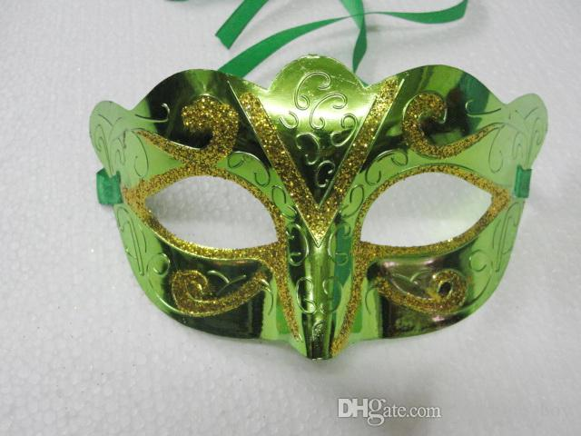 Fête de vacances or Masque peint en poudre Masques de mascarade d'Halloween Mardi Gras Fête de la danse vénitienne