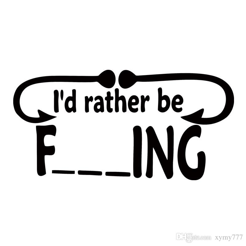 I would rather be fishing funny dirty window sticker personality vinyl art sticker hunting car styling decorate car sticker vinyl sticker car styling online