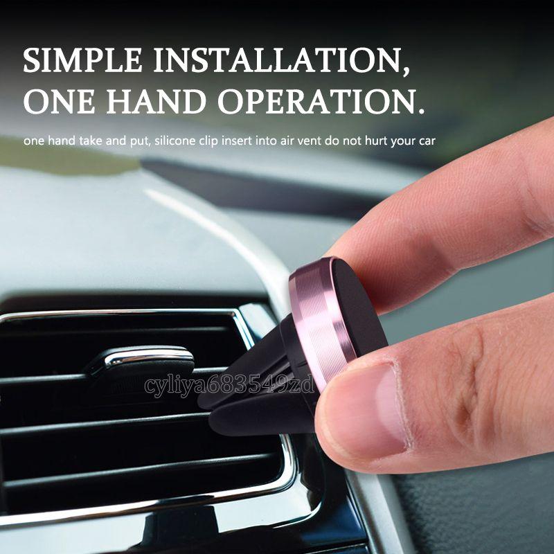 Universal Air Vent Magnetic Phone Holder Mobile Smartphone Magnet Car Holder Telefono alluminio Monte silicone supporto del basamento