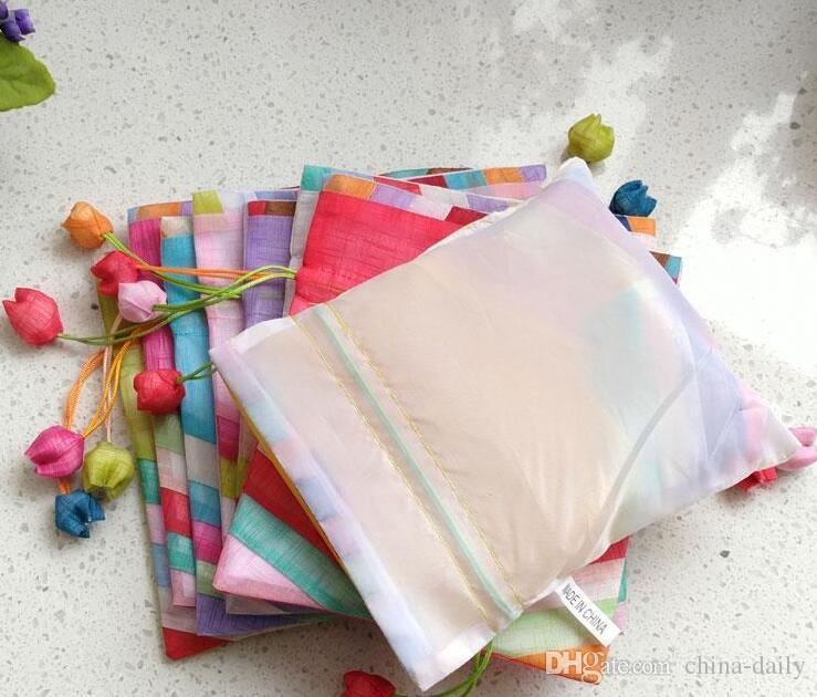 FreeShip 20 unids 16 * 20 cm 20 * 25 cm 24 * 35 cm hecho a mano de alta calidad Joint Splicing bolsos de tela del bolso de la joyería bolas de caramelo del banquete de boda del regalo de Navidad bolsa