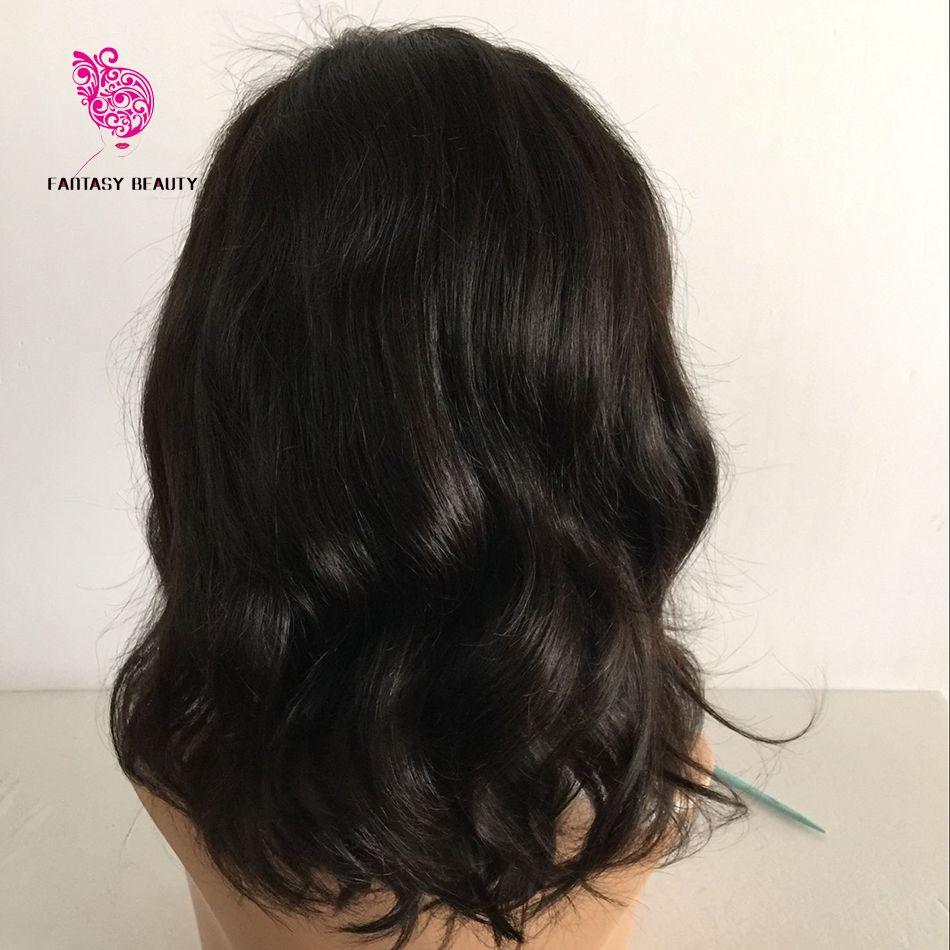 Side bangs bob peruca humana para as mulheres negras glueless frente do laço perucas de cabelo humano bob peruca com cabelo do bebê de renda cheia curto perucas