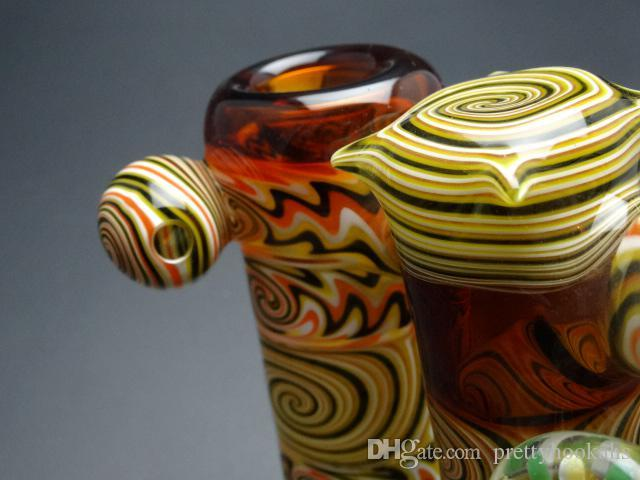 Mixed Color 19.5cm Height Hookahs Heady Sherlock Hammer Bubbler Pipes New Arrival Water Pipes