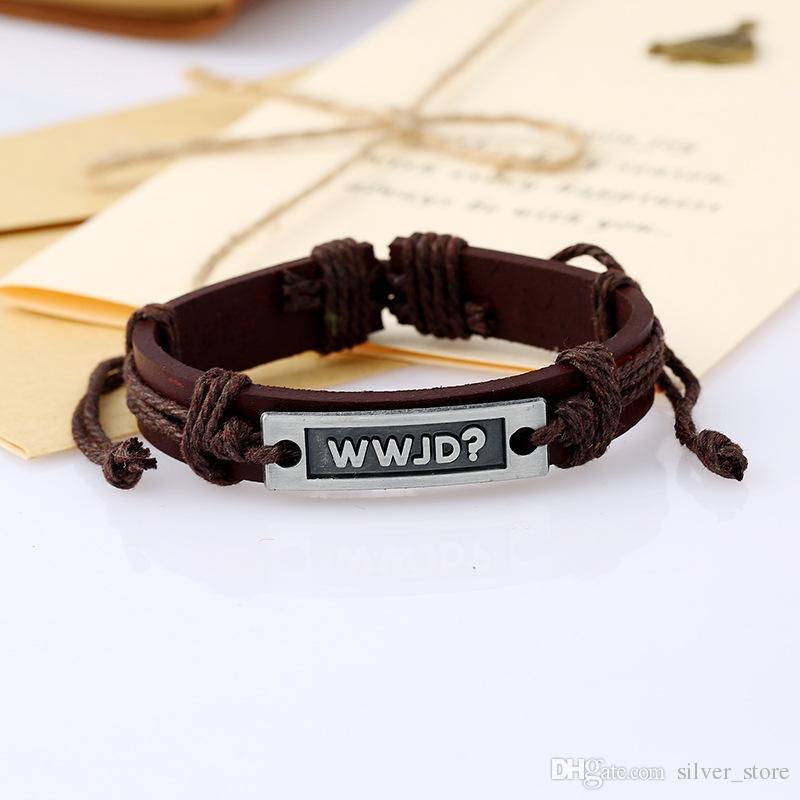 Good A++ Bursts of retro weaving alloy letters cowhide bracelet FB467 a Slap & Snap Bracelets