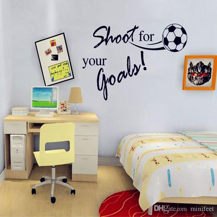 Kids Bedroom Background english alphabet football children 's bedroom stickers study