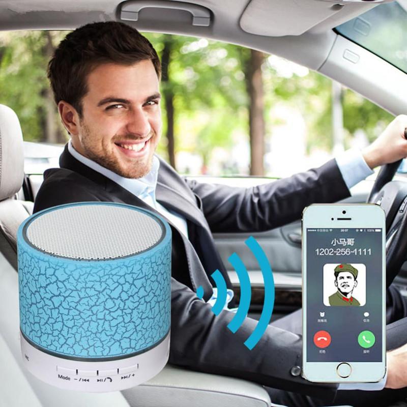 LED Knistern Bluetooth Lautsprecher Mini Wireless Stereo Bluetooth Lautsprecher Tf-karte, USB, FM Radio Mit MIC Mit Kleinkasten 6 Farbe