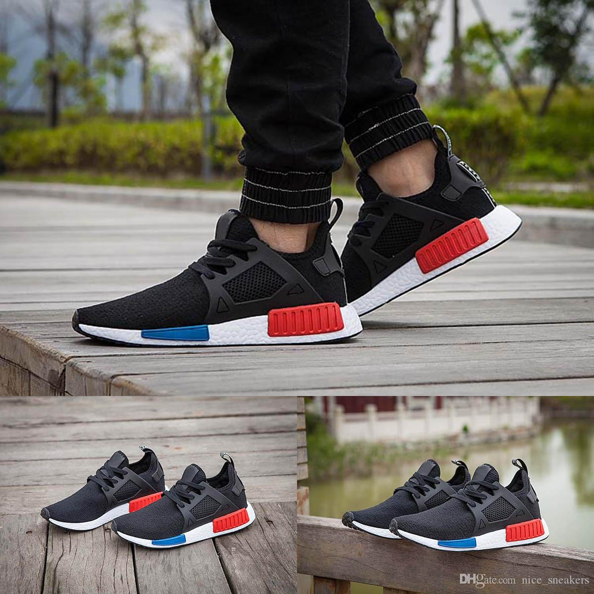 Adidas NMD XR1 PK Glitch Black vs Triple Black On Feet and Up