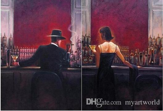 2019 Of The Cigar Bar Men And Women Quality Hand Painted Hd Print Pop Art Oil Painting Canvas Multi Sizes Options A Sanshui From Myartworld 7