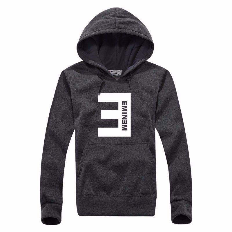 Nouveau hiver Eminem Imprimé Hoodies hommes Toison Thicken Hip Hop Sweat-shirt Homme Mode Homme Sweat-shirt Vêtements pour hommes