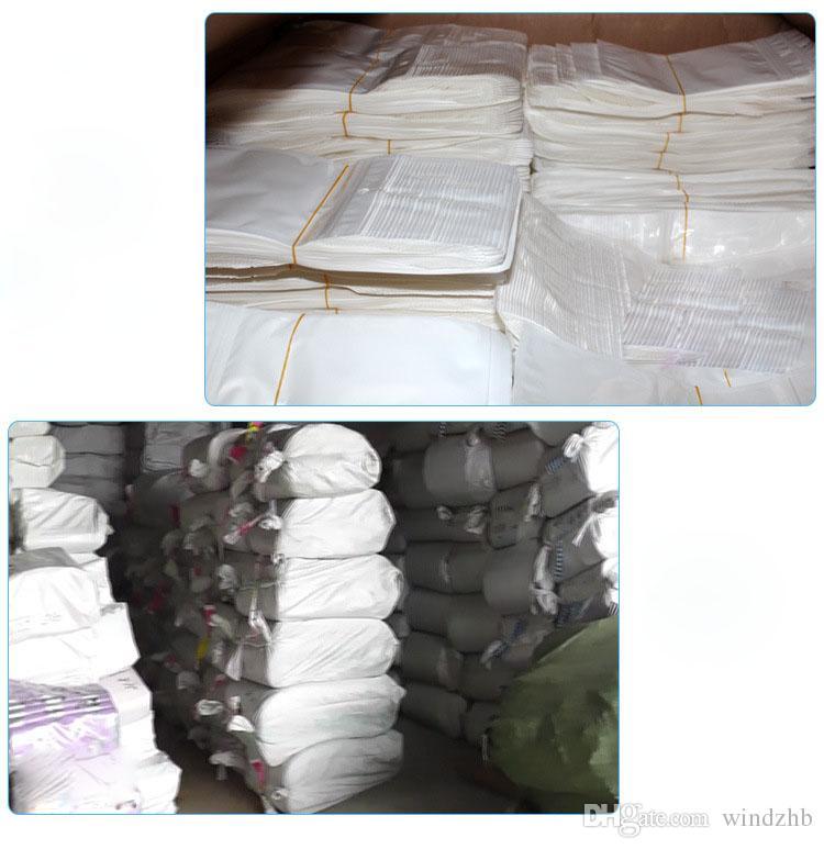 14 * 8 cm Weiß / Klar Perle Kunststoff Poly Taschen Selbst Siegel Wiederverschließbaren Reißverschluss Kunststoff Einzelhandel Verpackung Tasche Zip-Lock Kleinpaket Mit Hängen Loch