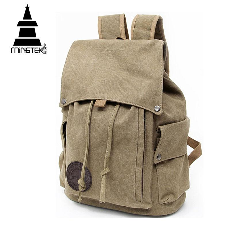 44d195cb152b Wholesale- Vintage Canvas Backpack New Design Casual School Bags For  teenagers Travel Men Women Drawstring Backpacks Rucksack High Quality