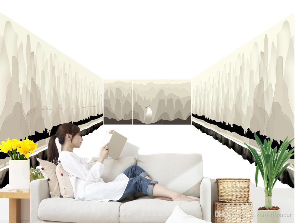 New Custom 3D Schöne Wandbild Tapeten für TV-Kulisse