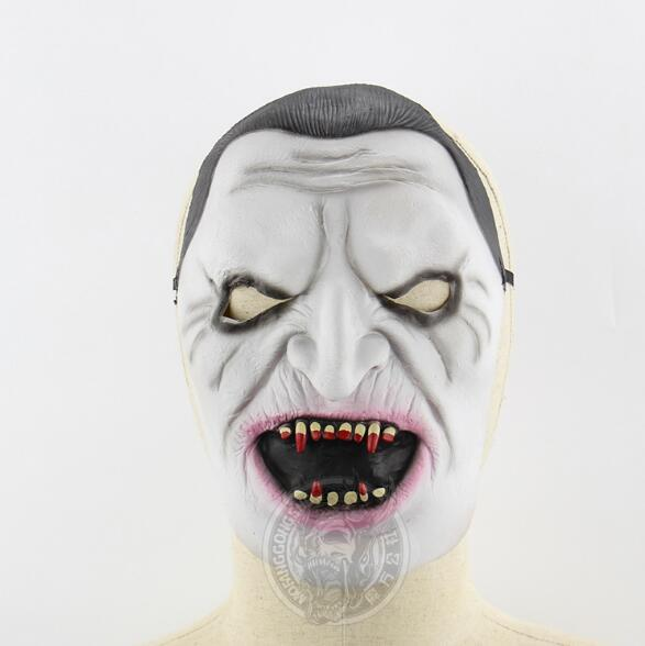 New 2017 Halloween Silicone Devil Satan Horror Scary Mask Clown Latex Human Masks Vampire Cosplay Costume For Party Halloween Fool's Day