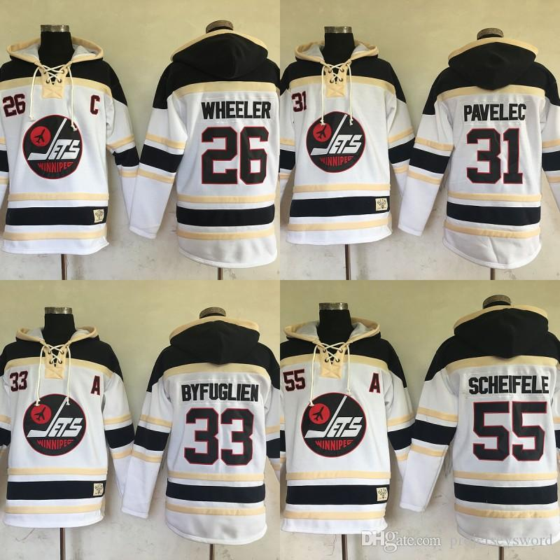the best attitude 26167 75d91 2017 New Winnipeg Jets Hockey Jersey Hoodies 26 Blake Wheeler 31 Ondrej  Pavelec 33 Dustin Byfuglien 55 Mark Scheifele 57 Tyler Myers Jerseys