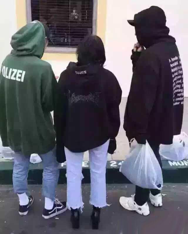 Vetements POLIZEI übergroße Kapuze Sweatshirt Herren schwarz grün Hip Hop Skateboard Hoodies Frauen lose Baumwolle Sport Pullover