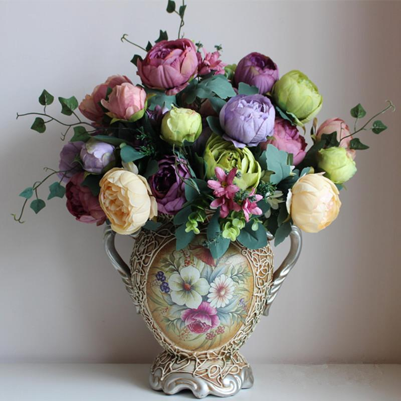 2018 wholesale artificial silk flowers european 1 bouquet peony 2018 wholesale artificial silk flowers european 1 bouquet peony festival patriarch placed flower for wedding home party decoration from sophine09 mightylinksfo