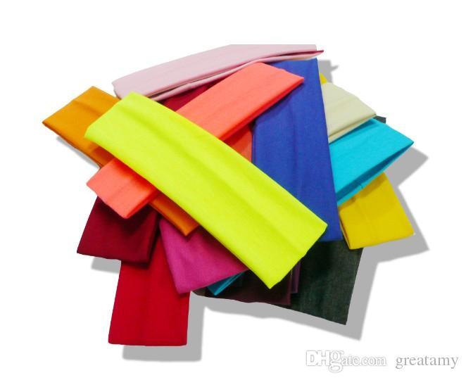 Neue 23 bonbonfarben baumwolle sport stirnband yoga laufen elastische baumwolle seil absorbieren schweiß stirnband