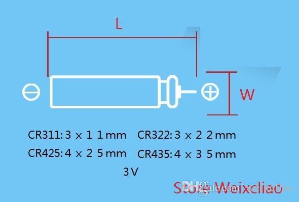 100 قطع 1 وحدة CR311 CR322 CR425 CR435 3 فولت دبوس نوع ليثيوم أيون بطارية 3 فولت بطاريات ليثيوم أيون الطعم الصيد الأنابيب vsai مجانية