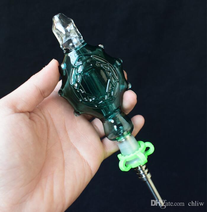 Kit raccoglitore di nettare prezzo all'ingrosso con punta in titanio 14mm Tubo di vetro giunto Dab Paglia tubo di nettare economico