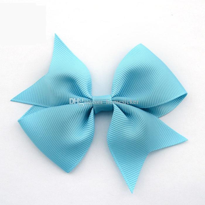 Arcs de ruban gros-grain de haute qualité pour arcs de cheveux, enfants accessoires pour cheveux, bébés enduits de poils fille arcs avec clip