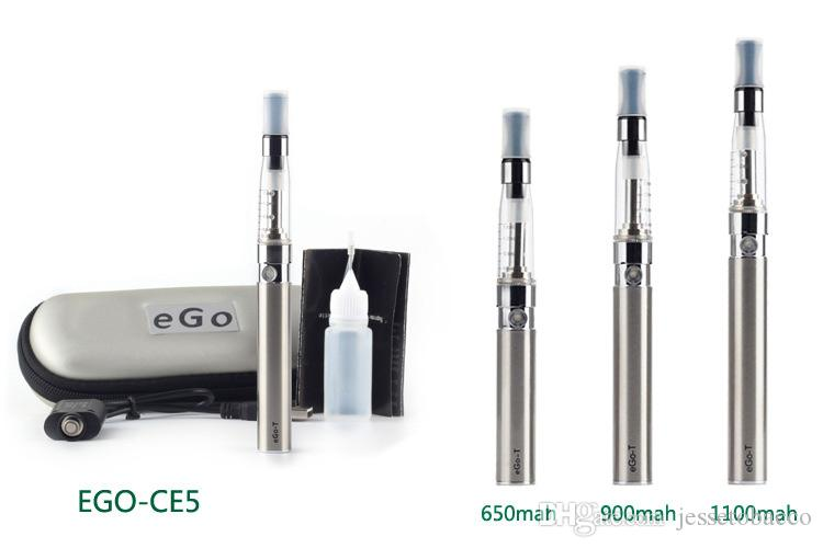 CE5 Ego T Startert Kit Electronic Cigarette no wick 1.6ml atomizer E cigarette With EGO T bttery Zipper ego