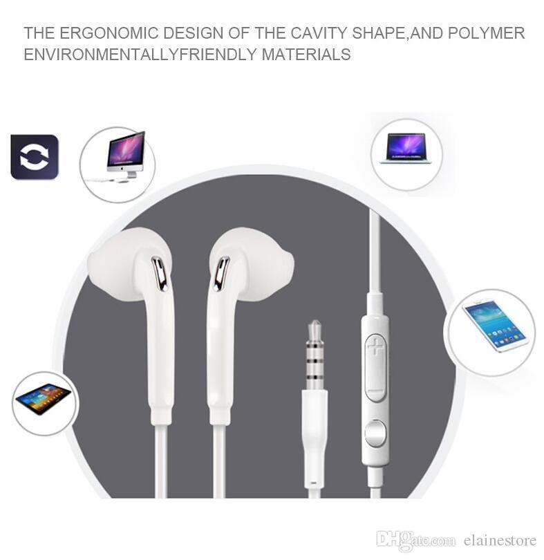 Auriculares para S6 S7 edge Note 7 Auriculares de alta calidad para auriculares con micrófono y control de volumen para Iphone7 6s