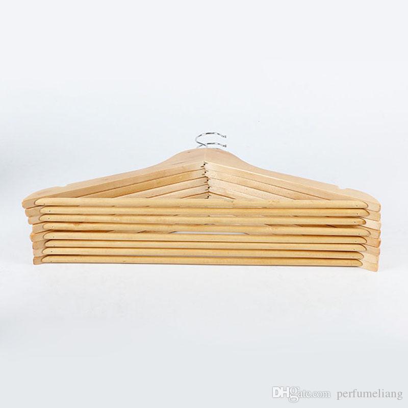 Appendiabiti in legno naturale Abbigliamento Abito Abito Camicia Portapantaloni Stendini Armadio Organizzatore Articoli la casa ZA3456