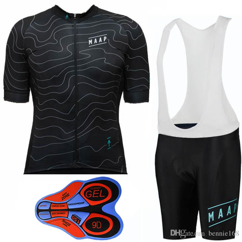 MAAP 2017 Short Sleeves Cycling Jerseys Set Summer Style For Men Women MTB  Ropa Ciclismo 9D Gel Padded Shorts Size XS 4XL Bike Wear Merino Wool  Cycling ... 06fc97f23