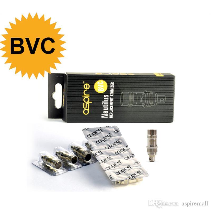 Commercio all'ingrosso - originale Aspire sostituzione 1,6 ohm / 1,8 Ohm Coil Aspire bobina di ricambio Nautilus BVC Coil E Cig Aspire Nautilus atomizzatore
