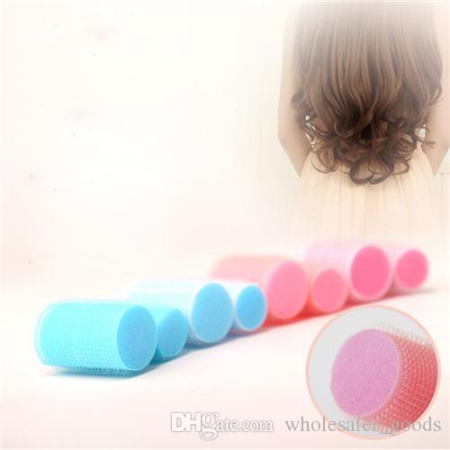 Sponge Hair Curler Large 6 Fitted Sponge Curlers Lightweight Magic Curls Sponge Foam Cushion Hair Styling Roller Curlers Twist Hairstyle Set
