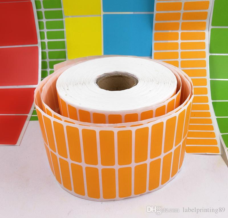 30*10mm /roll colorful blank paper sticker new plain Labels sticker office printer direct print barcode sticker
