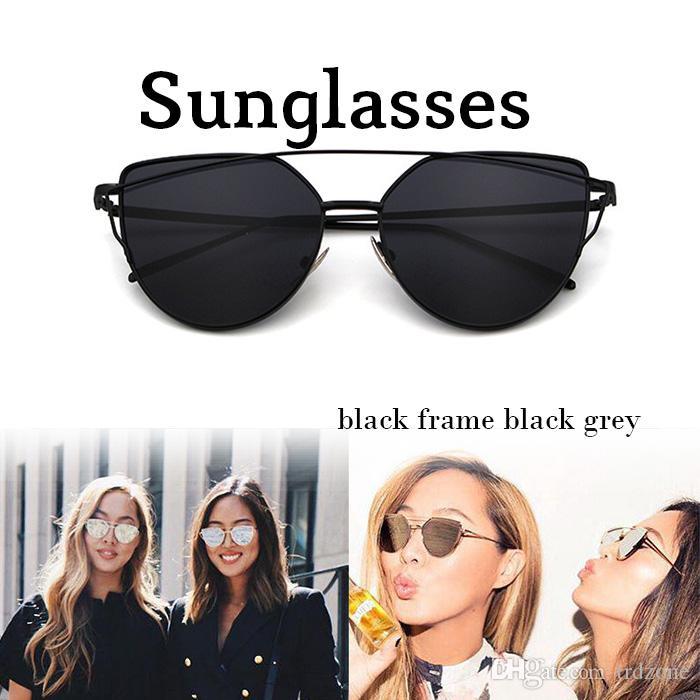 a9d18dbf702 New Women S Flat Lens Mirrored Metal Frame Glasses Oversized Cat Eye  Sunglasses Native Sunglasses Wholesale Sunglasses From Trdzone