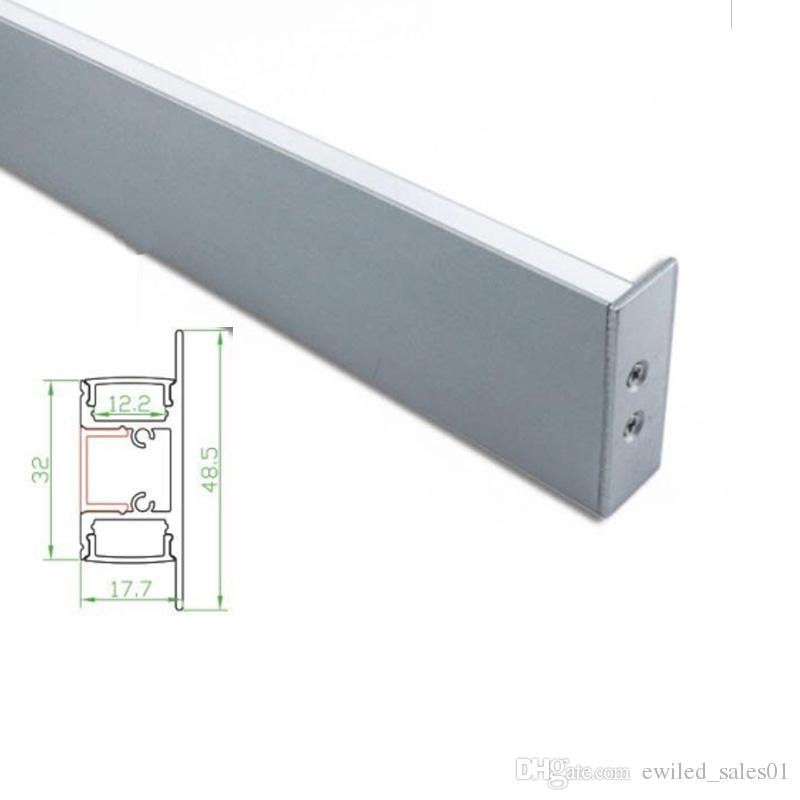 50 X 1M sets/lot wall washer aluminum U channel and flat T type alu led  profile for wall up and down lights
