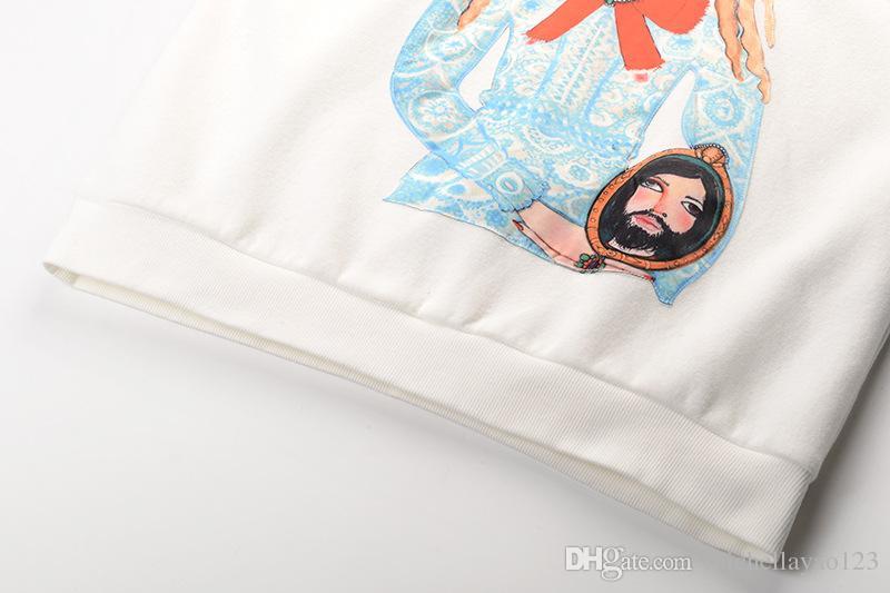 2018 White Glass Girls Print Women's Sweatshirts With Hoodies High End Casual hoodies women totoro 112014