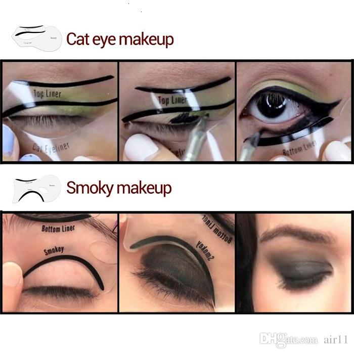 2 Styles Beauty Cat Eyeliner Models Smokey Eye Stencil Template Shaper Eyeliner Makeup Tool Eyelid Tape Uk Eyes On Eyelids Makeup From Air11, $1.29| DHgate.
