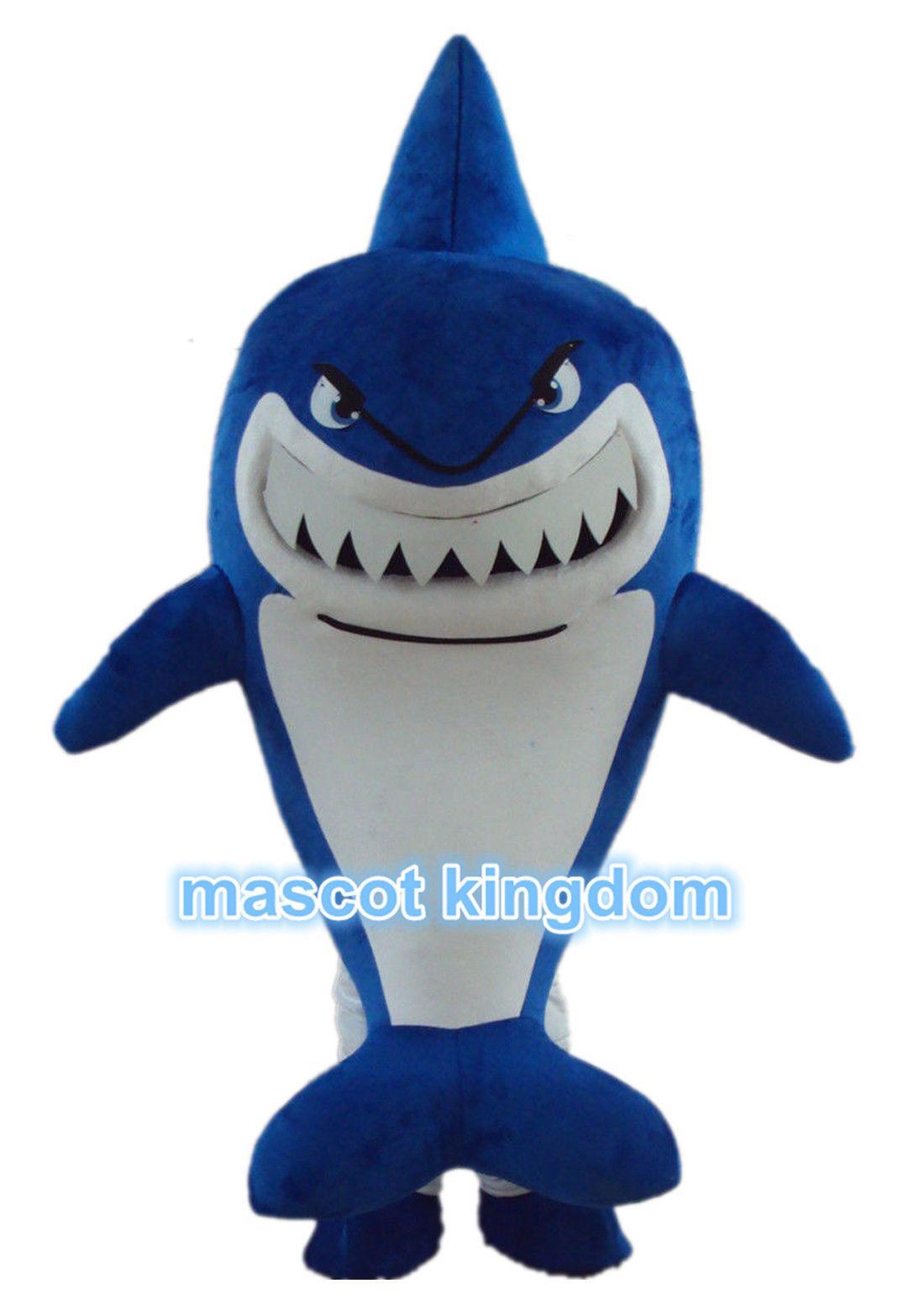 shark mascot costume whale cartoon fancy dress suze