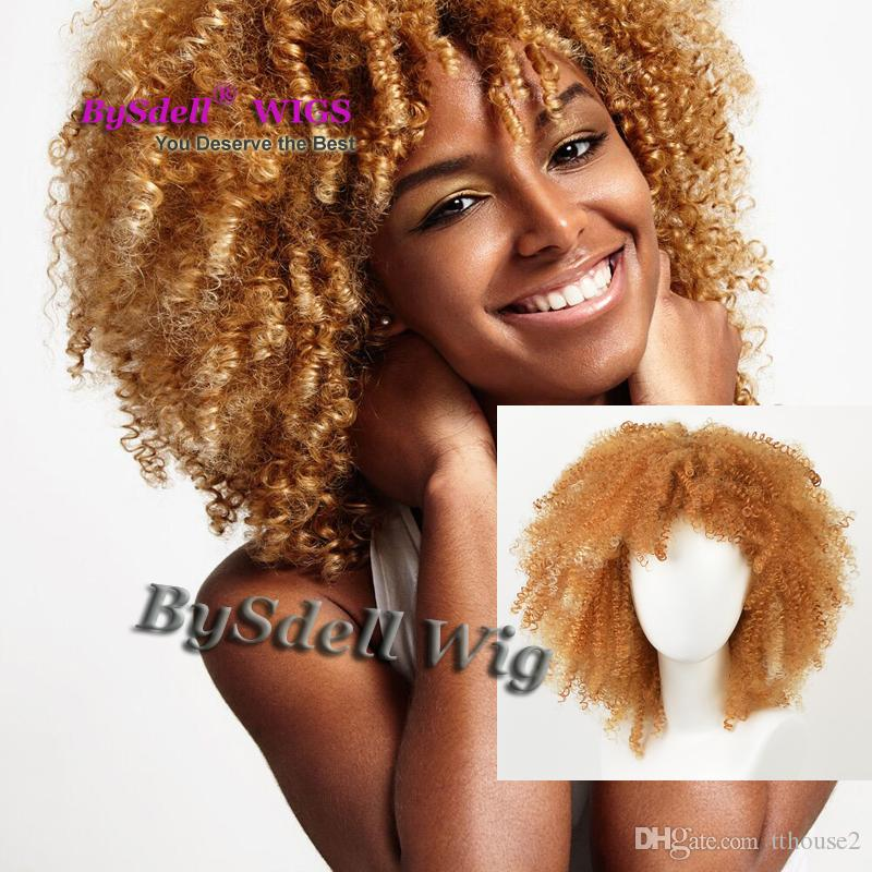 Sexy Lady Short Kinky Curly Hairstyle Wig Synthetic Heat Resistant