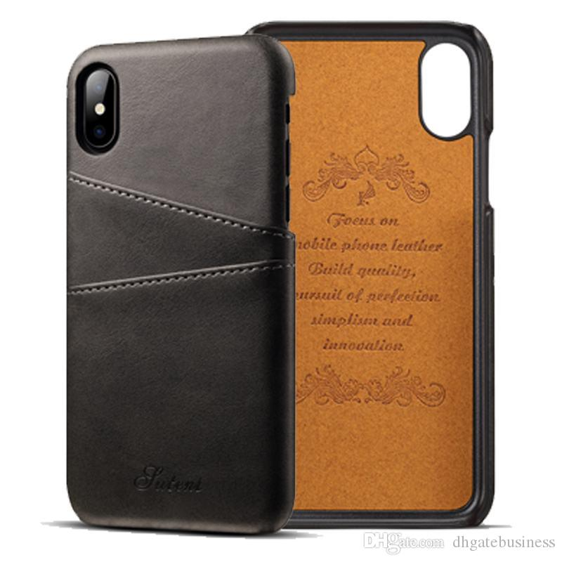 Luxury Pu Leather Wallet Case For Iphone X 8 7 6s Plus Business Card ...