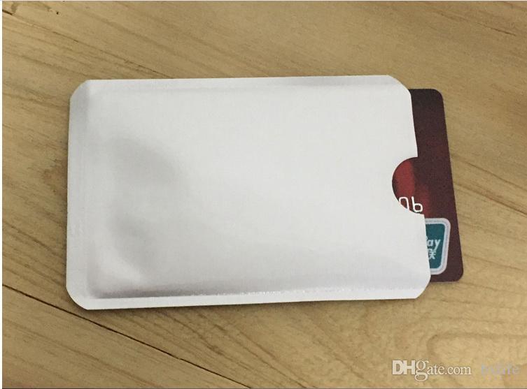 2000 adet Alüminyum Anti RFID Engelleme Kol Kredi Kartı Tutucu Ücretsiz Kargo