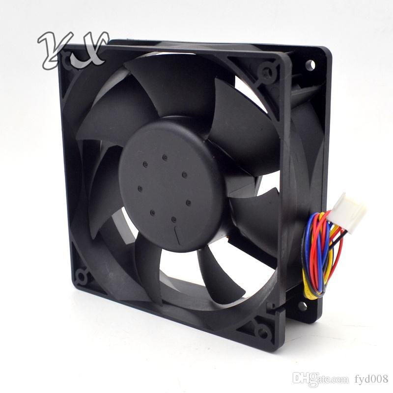 Nueva AFB1212SHE 12038 12cm 1.6A 12v 4 cables PWM 40cm de línea larga de ventilador para Delta 120 * 120 * 38 mm