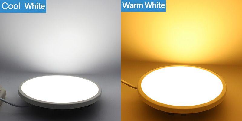 2017 Plano Panel de Luz LED Empotrable Downlights Cuadrado Redondo 8W 16W 22W 34W Super Delgado Techo Lámpara de Punto para la iluminación de la cocina del hogar con el conductor
