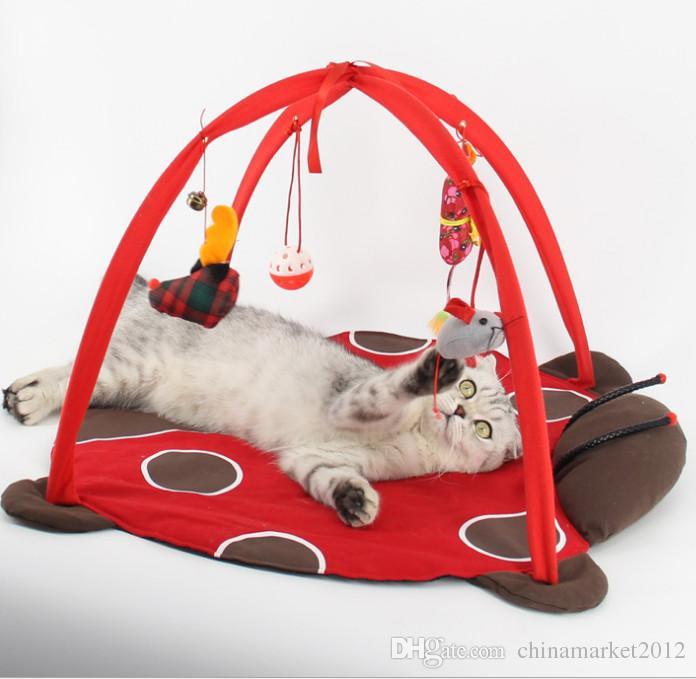 Frete grátis Pet Cat Cama Brinquedos Atividade Móvel Jogando Cama Brinquedos Cat Bed Pad Cobertor Casa Móveis para Animais de Estimação Gato Tenda Brinquedos de três estilo
