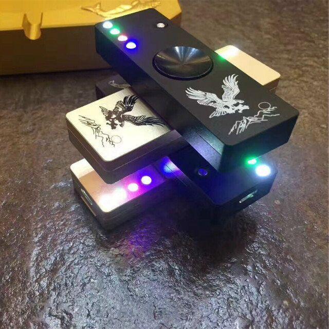 Fidget Spinner Cigarette Lighter LED Hand Spinner Aluminium Alloy USB Charger 3 in 1 Functions usb Finger Toys