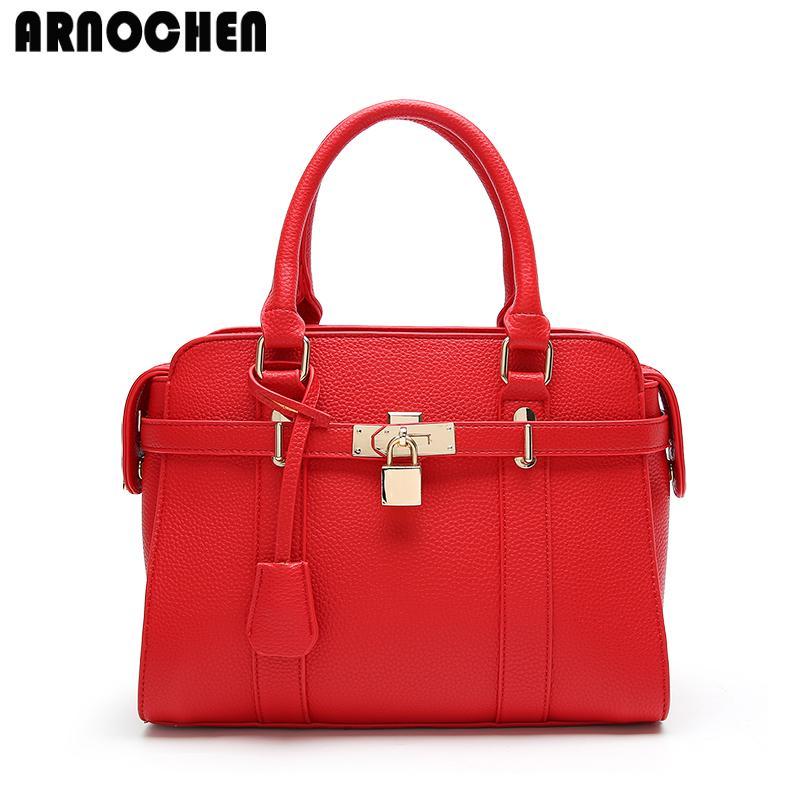 113fd6838540 Wholesale 2017 Luxury Designer Women Leather Handbags High Quality Fashion  Lock Shoulder Bag Ladies Hand Bags Bolsos Mujer WYQ437 Shoulder Bagsbags  Online ...