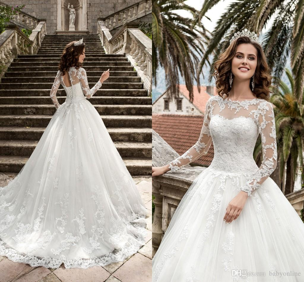 Discount 2017 New Queen Vestios De Novia A Line Wedding