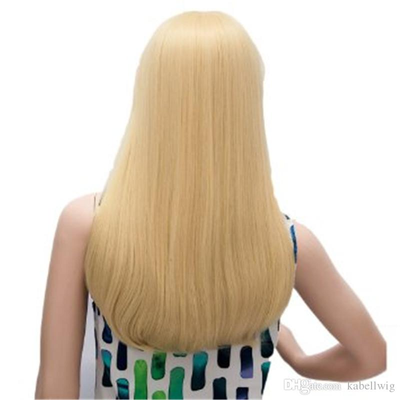 Before Tenth Highest Quality Blondefull Full Lace Human Hair Wig Of Beads Blonde Town Female Brazilian Hair 100% Wig # 613 Is Shoes KABELL