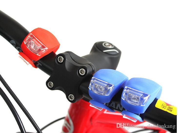 6 renk bisiklet kafa Silikon Bisiklet Baş Ön Arka Tekerlek LED Flaş Işığı Lambası Bisiklet warnning farları LED