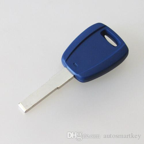 Best car replacement key shell for Fiat transponder key blank cover FOB shell no logo with blue color