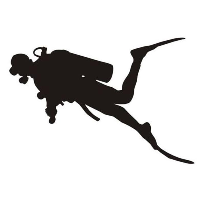 07bf5426ee3f6 2019 20.5 13.9CM Interesting Diver Diving Snorkeling Car Stickers Decals  From Xymy767