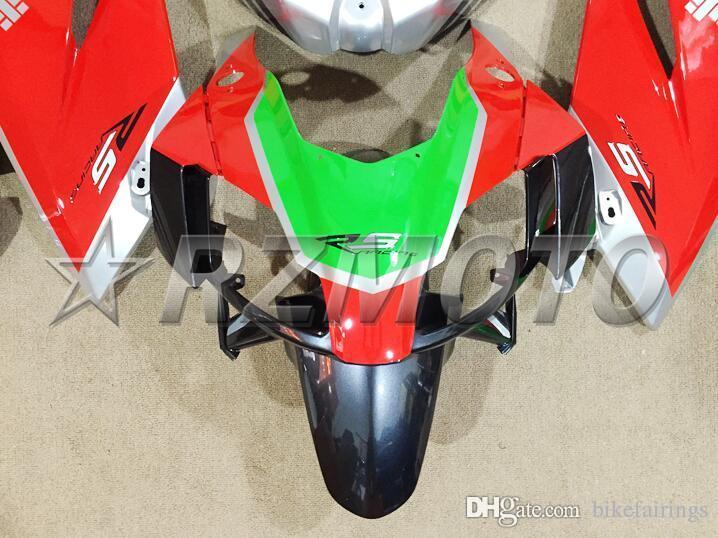 3 regali gratuiti Nuovo kit carenatura ABS 100% adatto Aprilia RS4 2006-2011 RS125 06 07 08 09 10 11 RS 125 2006 2007 2008 2009 2010 2011 rosso argento